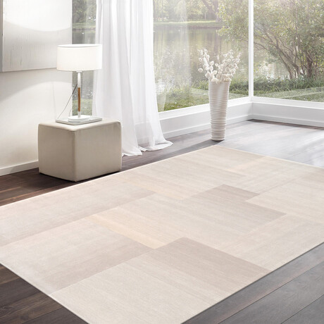Home Rodeo Collection // Hand-Tufted Silk + Wool Area Rug // Silver // V2 (5' x 8')