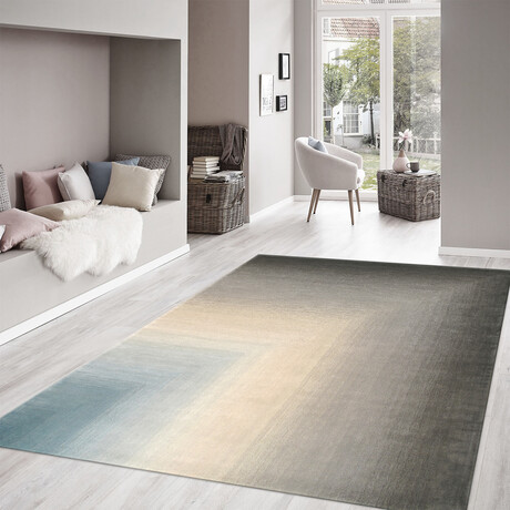 Home Rodeo Collection // Hand-Tufted Silk + Wool Area Rug // Gray (5' x 8')