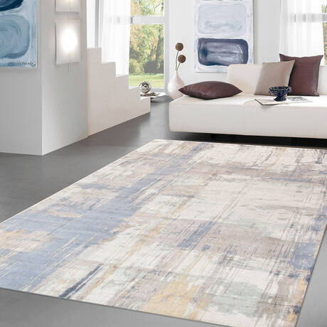 Home Modern Collection // Hand-Loomed Silk + Wool Area Rug // Ivory