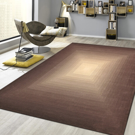 Home Rodeo Collection // Hand-Tufted Silk + Wool Area Rug // Brown (5' x 8')