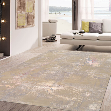 """Home Modern Collection // Hand-Knotted Silk + Wool Area Rug // Light Gray // V1 (10'4"""" x 14'2"""")"""