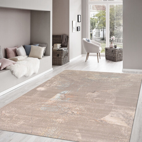 Home Modern Collection // Hand-Knotted Silk + Wool Area Rug // Silver