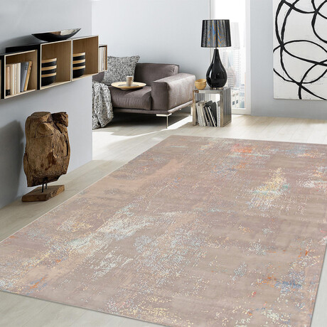 Home Modern Collection // Hand-Knotted Silk + Wool Area Rug // Gray // V1