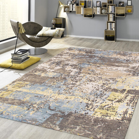 Home Soho Collection // Hand-Loomed Silk + Wool Area Rug // Silver