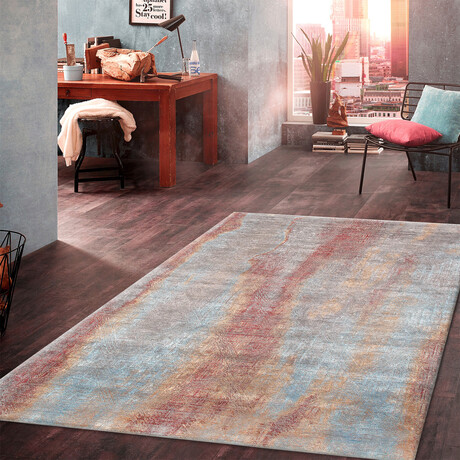 """Home Stellor Collection // Hand-Knotted Silk + Wool Area Rug // Multi // V1 (8' 2"""" x  9'10"""")"""