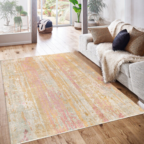 Home Nara Collection // Hand-Knotted Silk + Wool Area Rug // Multi // V1