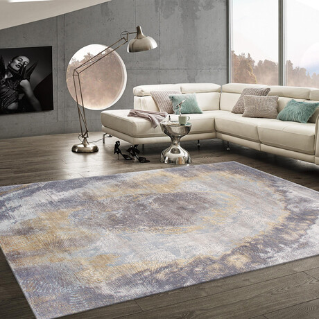 """Home Stellor Collection // Hand-Knotted Silk + Wool Area Rug // Multi // V2 (7'11"""" x 10')"""