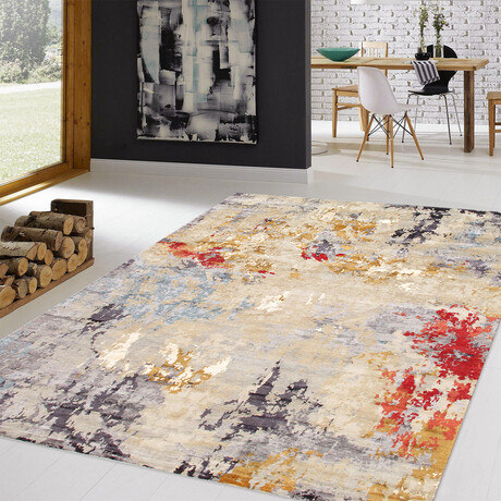 Home Soho Collection // Hand-Knotted Silk + Wool Area Rug // Multi (8' x 10')