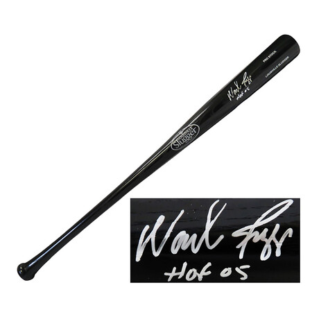 "Wade Boggs // Signed Louisville Slugger Baseball Bat // ""HOF'05"" Inscription // Black"