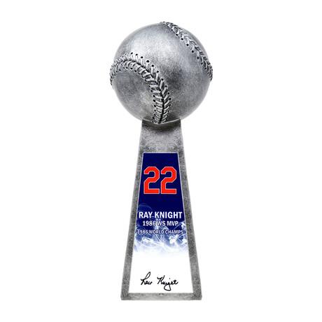 "Ray Knight // Signed Baseball World Champion Trophy // Silver // 14"" Replica"