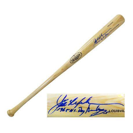 """Jim Lefebvre // Signed Rawlings Blonde Big Stick Baseball Bat // """"1965 NL ROY, Dodgers"""" Inscription"""
