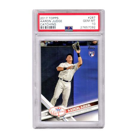 Aaron Judge // New York Yankees // 2017 Topps Baseball #287 Catching RC Rookie Card