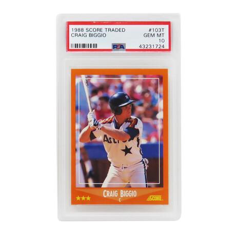 Craig Biggio // Houston Astros // 1988 Score Traded Baseball #103T RC Rookie Card