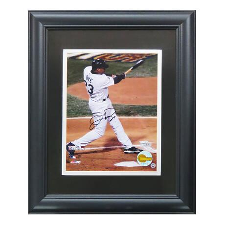 Jermaine Dye // Signed White Sox 2005 World Series Swinging Action Photo // 8X10 // Framed