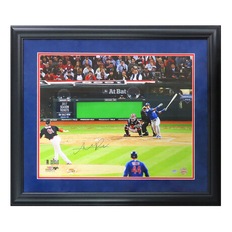Addison Russell // Signed Chicago Cubs 2016 World Series Game 6 Grand Slam Photo // 16X20 // Framed