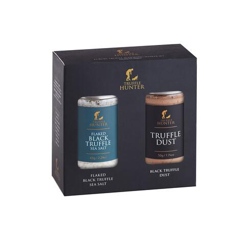 Truffle Seasoning Set // Flaked Truffle Sea Salt Shaker + Black Truffle Dust