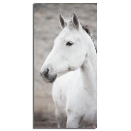 """White Horse (16""""W x 48""""H x 0.5""""D)"""