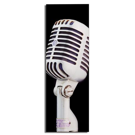 "Silver Square Microphone (16""W x 48""H x 0.5""D)"