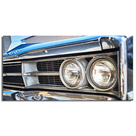 """Vintage Car Lights (48""""W x 16""""H x 0.5""""D)"""