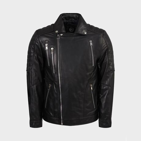 Hunter Biker Jacket // Black (XS)