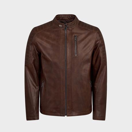 Theodore Biker Jacket // Oiled Brown (XS)