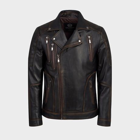 Hunter Biker Jacket // Shady Brown (XS)