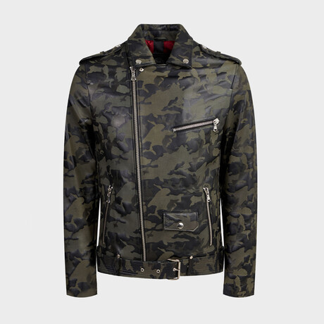Noah Biker Jacket // Camouflage (XS)