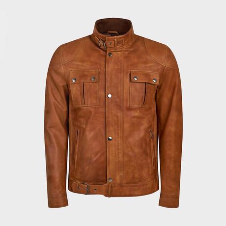 Cameron Classic Biker Jacket // Camel (XS)
