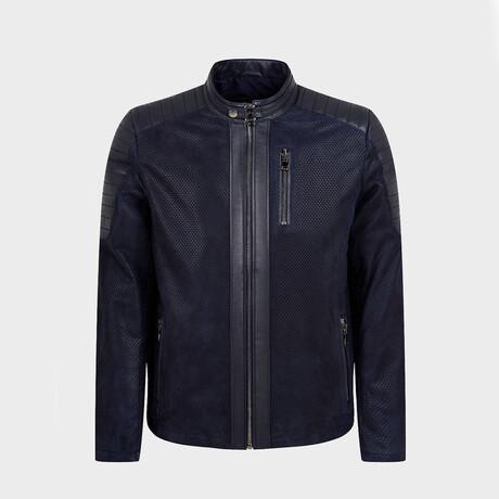 Theodore Biker Jacket // Navy (XS)