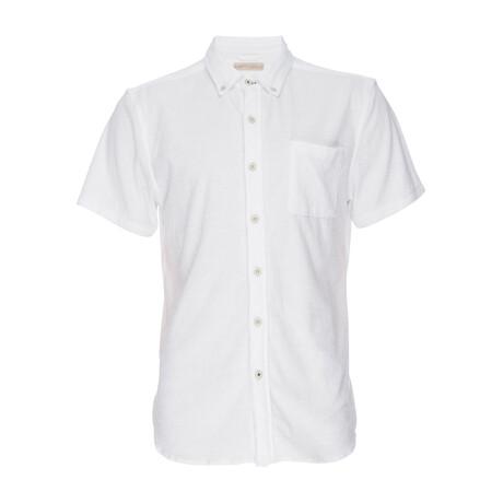 Truman Stretch Terry Short Sleeve Button Down Shirt // White (XS)