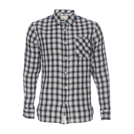 Truman Plaid Button Down Shirt // Black + White (XS)