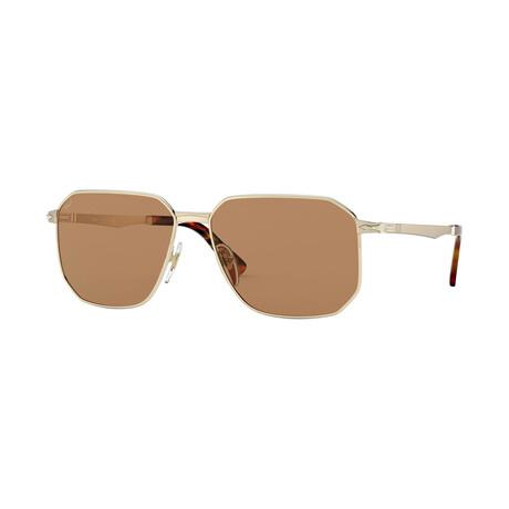 Men's Metal Sunglasses // Gold + Brown