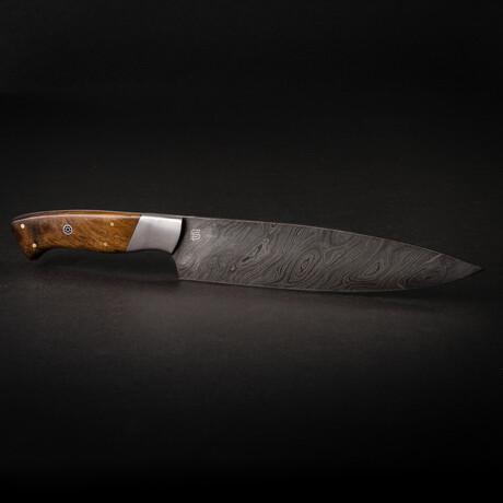 "Cuisinier 8"" Handmade Damascus Steel Chef Knife // Walnut Handle"