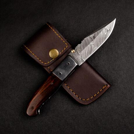 J.H. Patterson Damascus Steel Pocket Knife