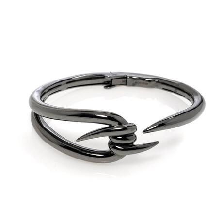"""Stephen Webster // Forget Me Knot Sterling Silver + Rhodium Bangle Bracelet // 6.25"""" // Store Display"""