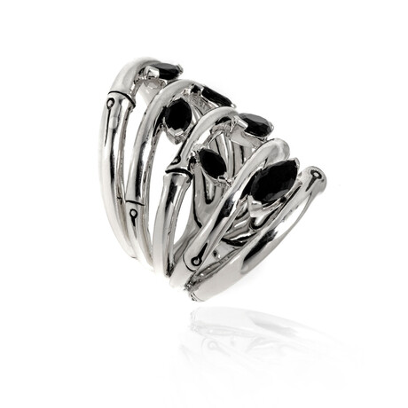 John Hardy // Sterling Silver + Spinel Puzzle Ring // Ring Size: 6 // Store Display