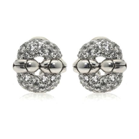 John Hardy // Sterling Silver + White Topaz Kali Earrings // Store Display