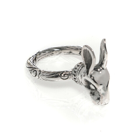 Gucci // Anger Forest Sterling Silver Rabbit Ring // Ring Size: 5.25 // Store Display