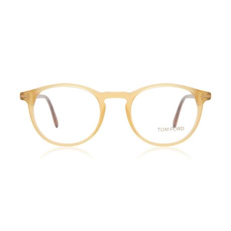Men's Round Optical Frames // Yellow + Tortoise