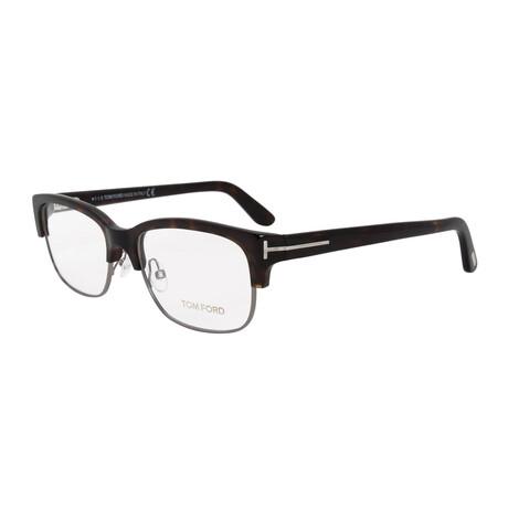 Men's Semi Rimless Rectangle Optical Frames // Blonde Havana + Gunmetal