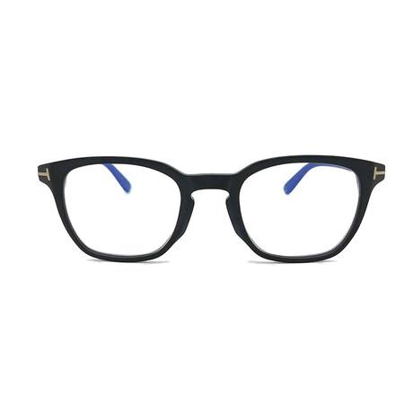 Men's Blue Light Blocking Optical Square Frames // Black