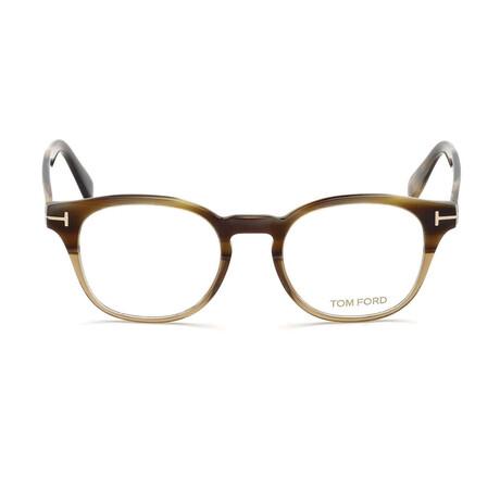 Men's Square Optical Frames // Beige Horn