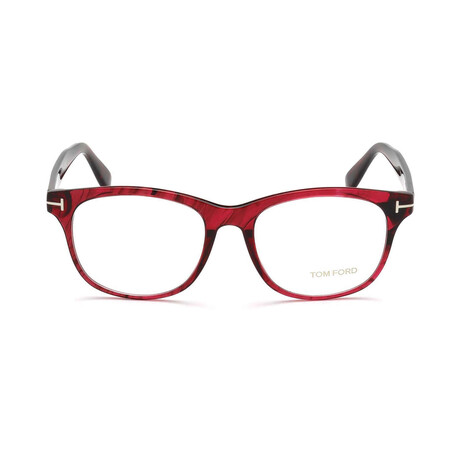 Unisex Rounded Optical Frames // Red