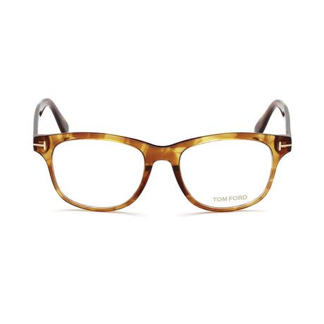 Unisex Rounded Optical Frames V.I // Transparent Brown Havana