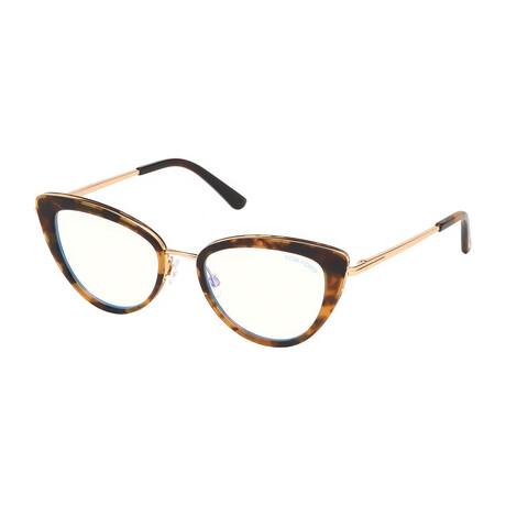 Women's Blue Light Blocking Optical Cat Eye Frames // Havana Gold