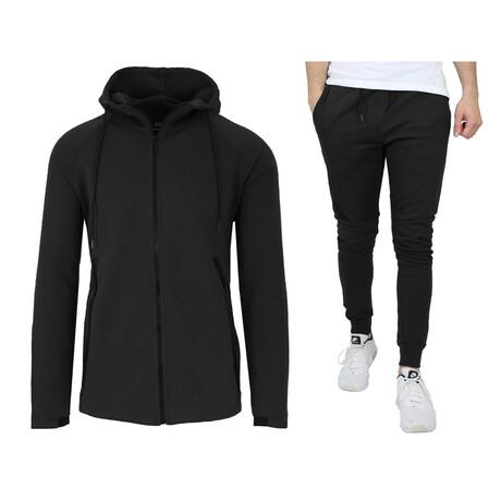 Tech Fleece Hoodie + Jogger Sets // Black (S)