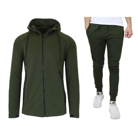 Tech Fleece Hoodie + Jogger Sets // Military Green (S)