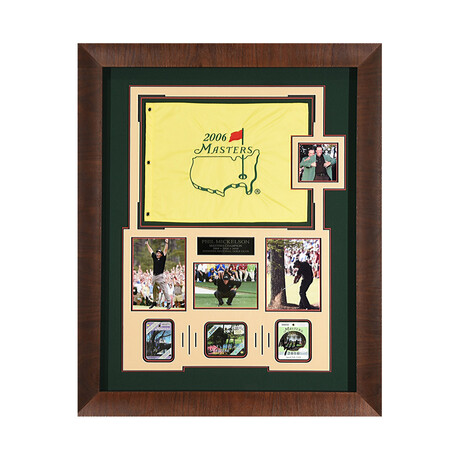 Phil Mickelson // Masters Badge // Autographed Display