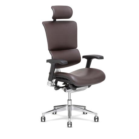 X4 Leather Executive Chair + Headrest (Black)