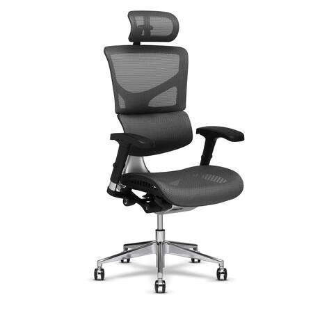 X2 K-Sport Management Chair + Headrest (Gray)